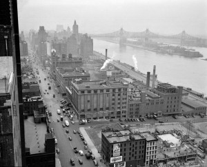 The Turtle Bay neighborhood razed to make way for the UN complex, sometime in the 1940s