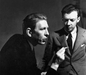 Auden (left) with influential English composer Benjamin Britten (right), 1940 by Britten-Pears Foundation