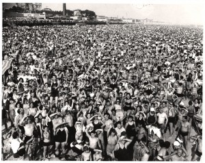Crowd at Coney Island Weegee