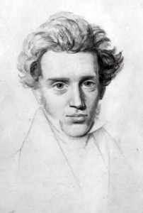 Søren Kierkegaard, Auden's consummate philosopher of his 'age of anxiety,' as sketched by Niels Christian Kierkegaard.