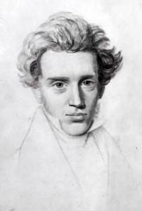 Søren Kierkegaard, Auden's consummate philosopher of his 'age of anxiety,' as sketched by Niels Christian Kierkegaard.
