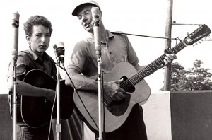 Pete Seeger and Bob Dylan (www.tvguide.com)